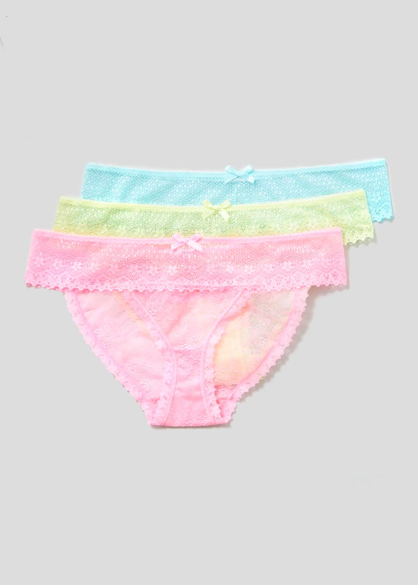 3 Pack Lace Mini Knickers
