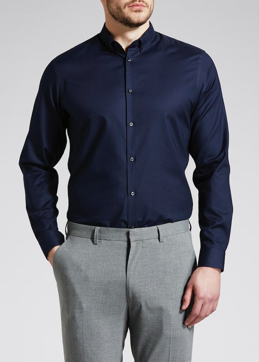 Barber Slim Fit Stretch Oxford Shirt