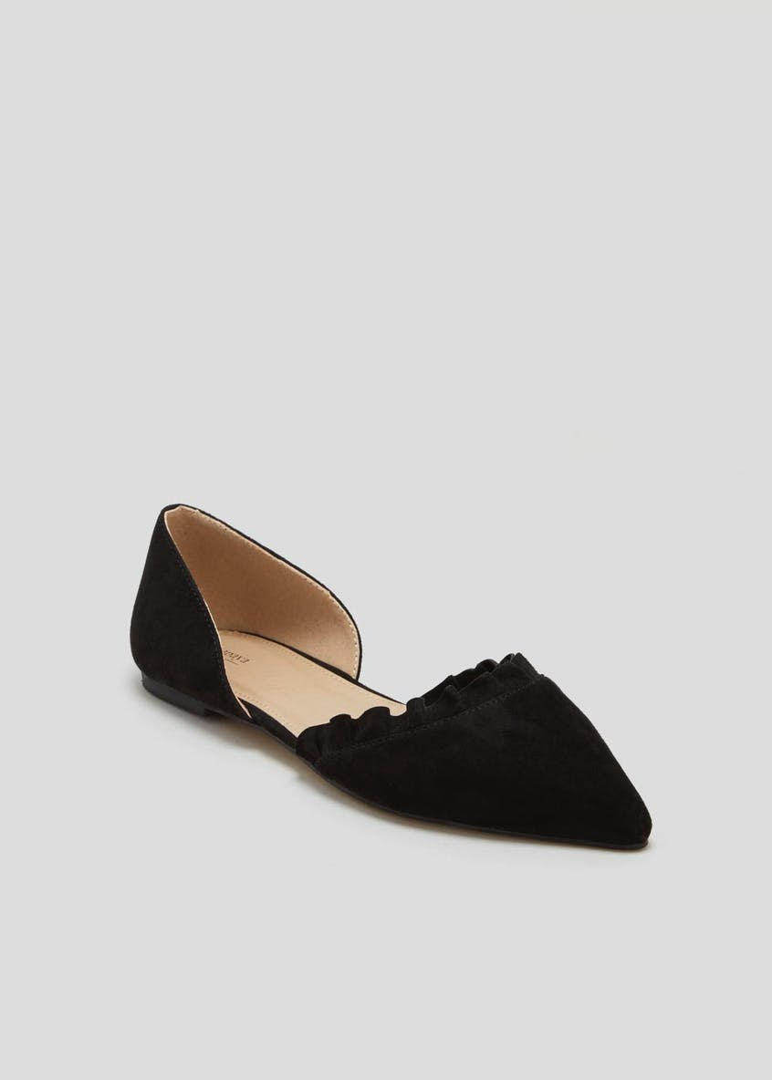 Frill Pointed Ballet Pumps