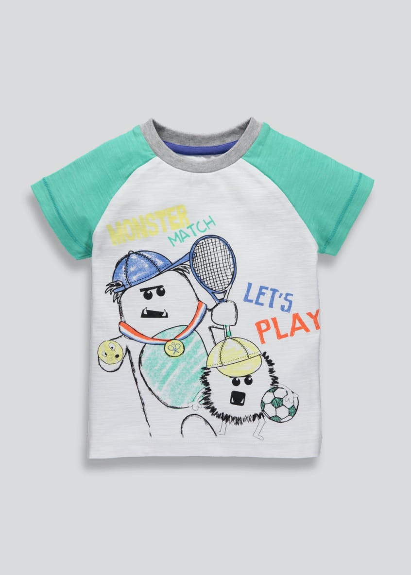 Boys Raglan Sleeve Monster T-Shirt (3mths-6yrs)