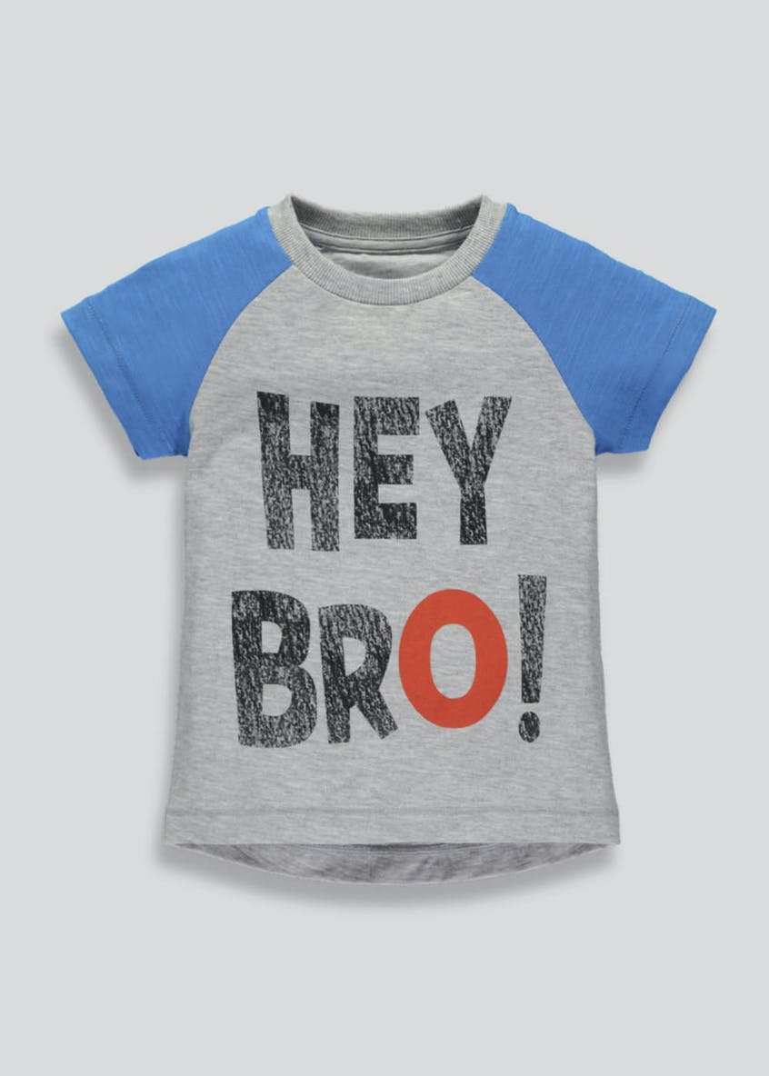 Boys Hey Bro Slogan T-Shirt (3mths-6yrs)