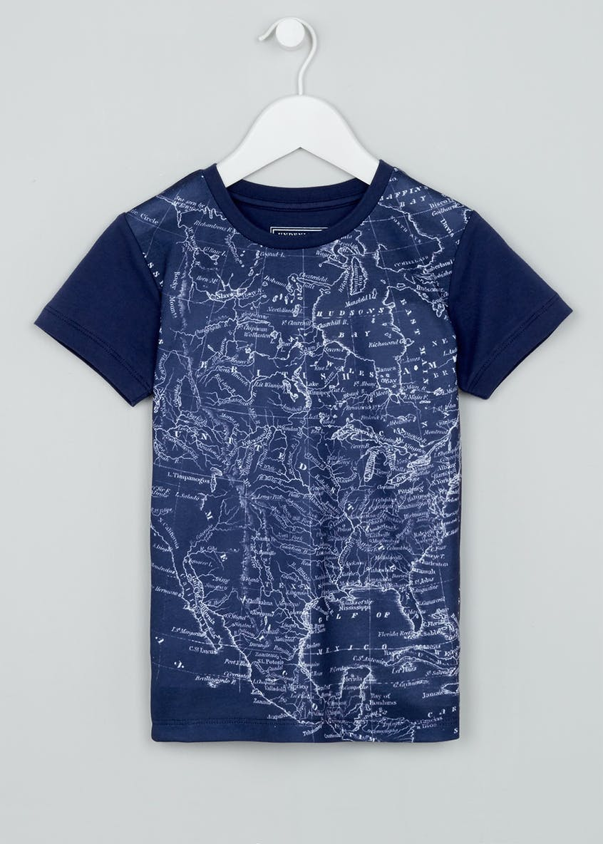 Boys Map T-Shirt (4-13yrs)