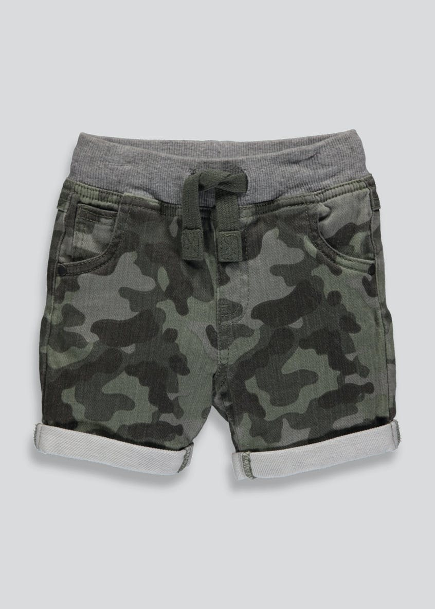 Boys Camo Denim Shorts (3mths-6yrs)