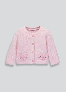 Girls Cat Cardigan (Newborn-18mths)