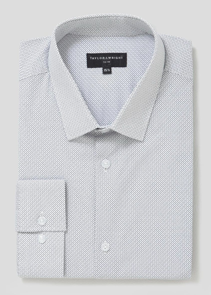 100% Cotton Slim Fit Geometric Print Shirt