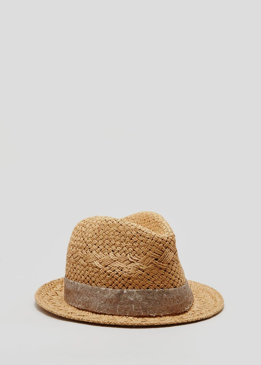 Sequin Band Trilby Hat