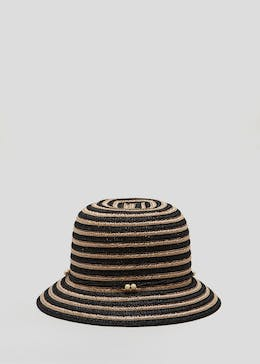 Stripe Cloche Hat