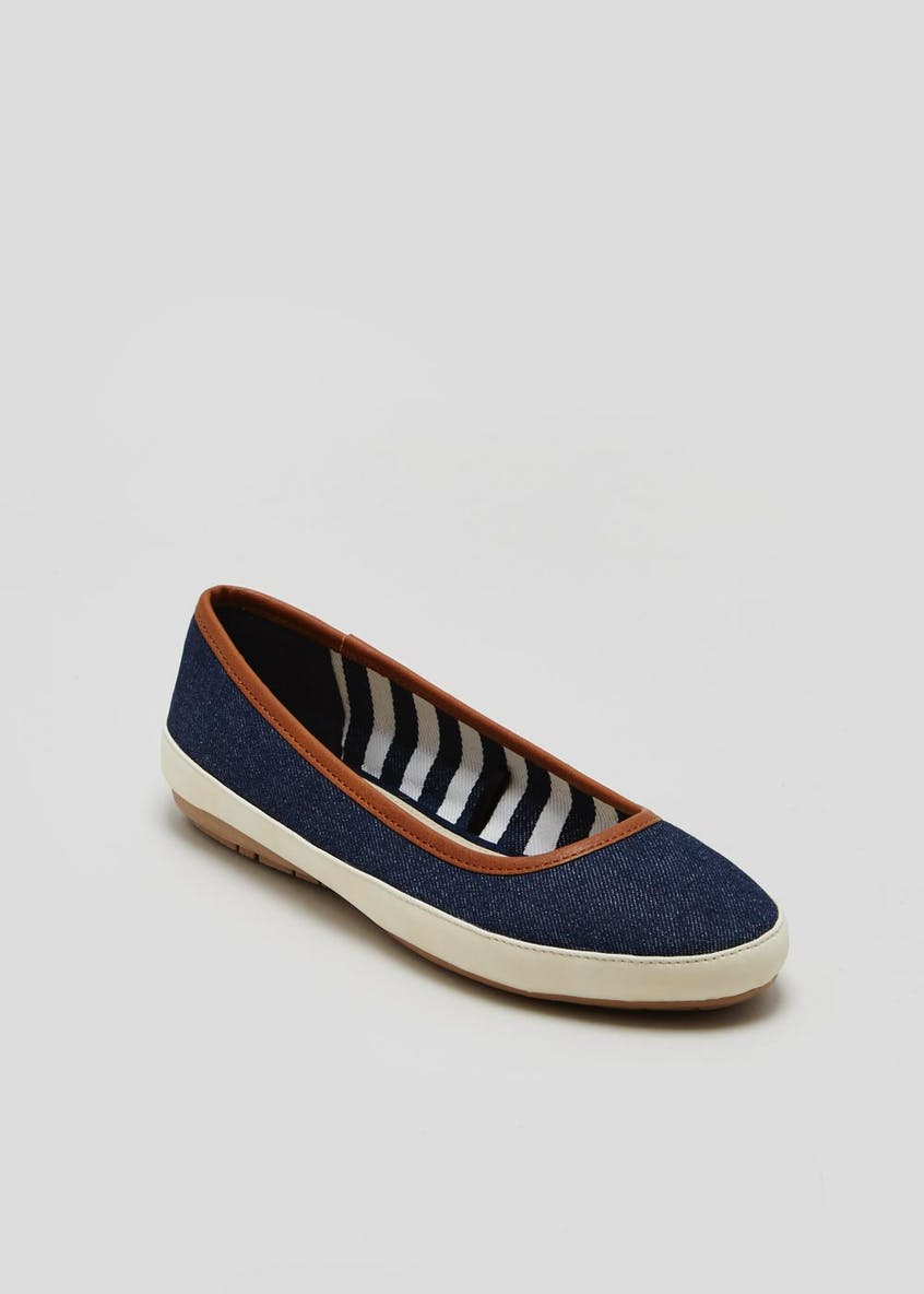Soleflex Denim Ballet Pumps