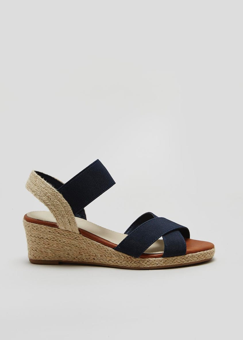 Soleflex Elasticated Espadrille Wedges