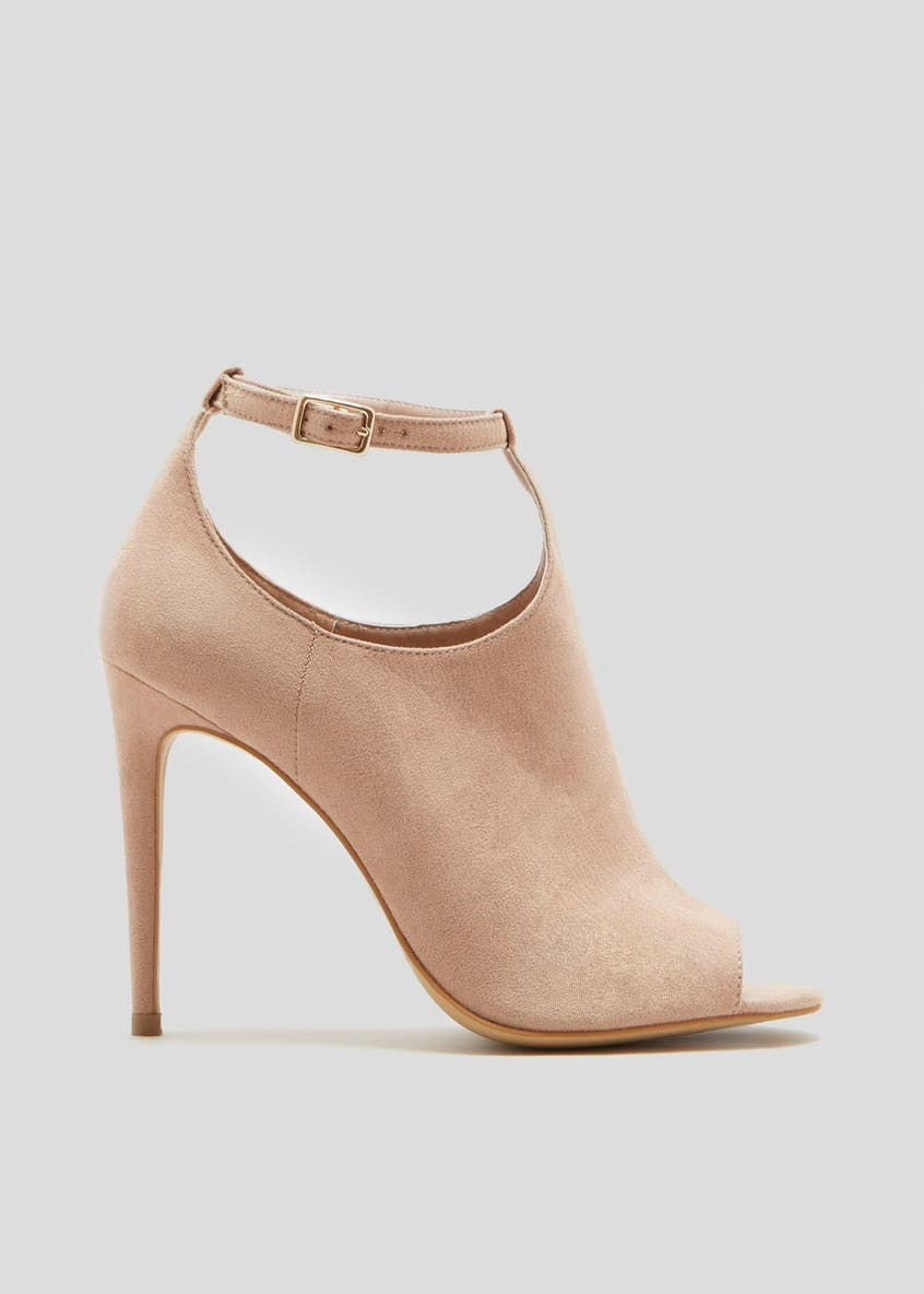 Wide Fit Peep Toe Shoe Boots