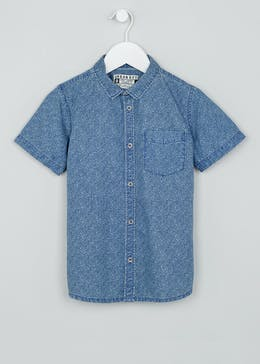 Boys Short Sleeve Denim Shirt (4-13yrs)