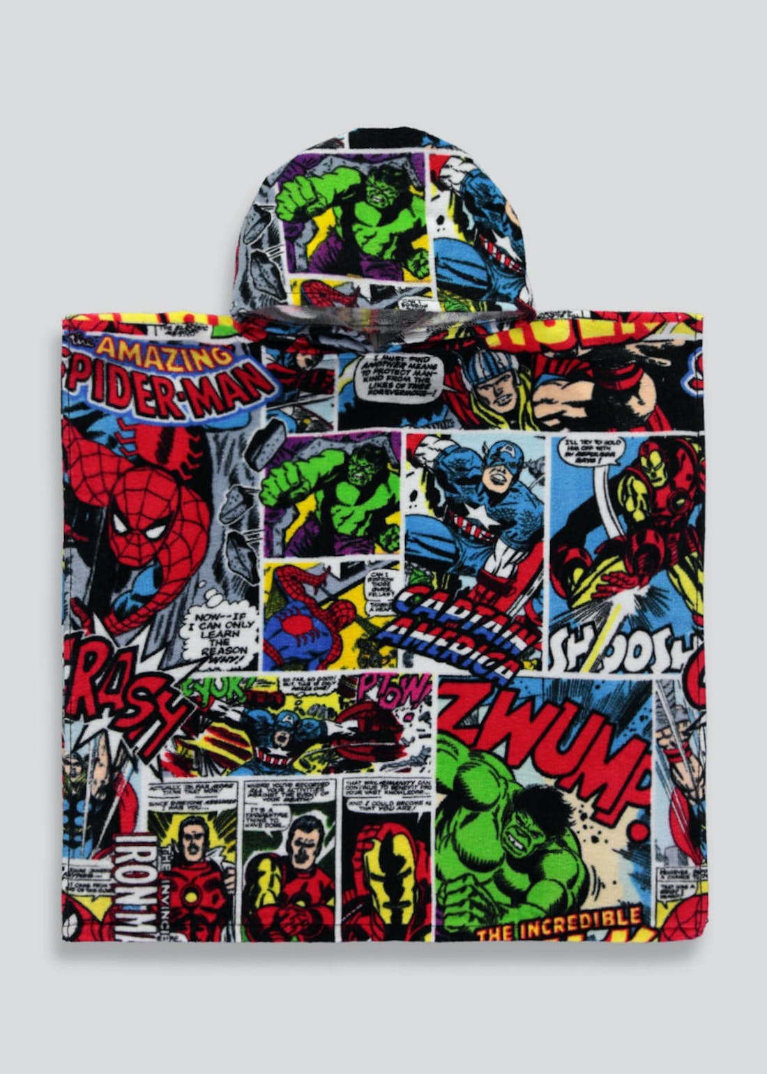 Kids Marvel Hooded Towel Poncho (One Size)