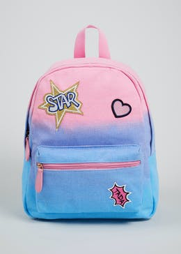 Girls Ombre Badge Back Pack (One Size)
