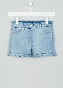 Girls Candy Couture Frill Denim Shorts (9-16yrs)