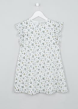 Girls Floral Schiffley Trim Dress (4-13yrs)