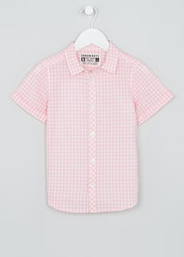 Boys Gingham Check Short Sleeve Shirt (4-13yrs)