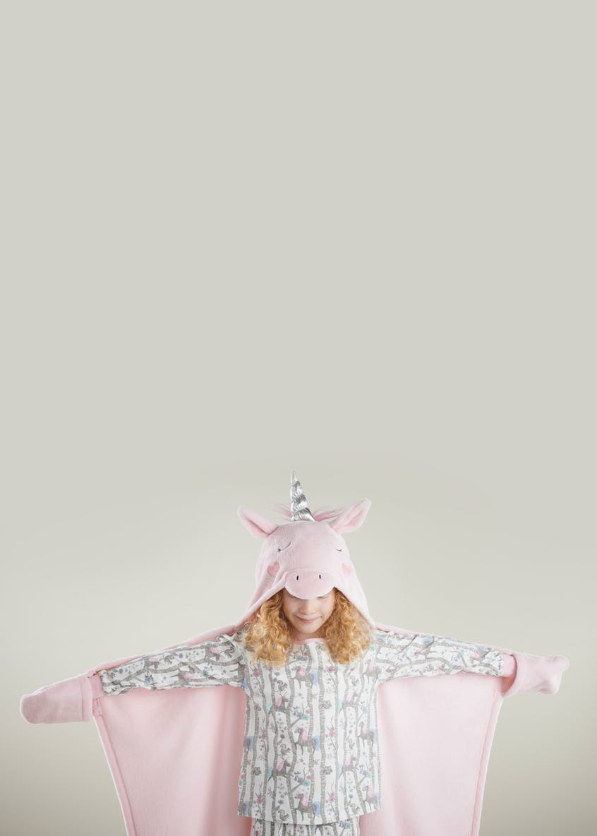 Unicorn Hooded Throw (One Size)