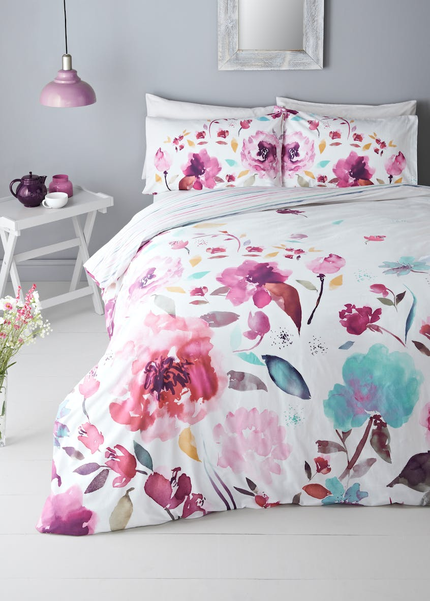 100% Cotton Floral Duvet Cover (200 Thread Count)