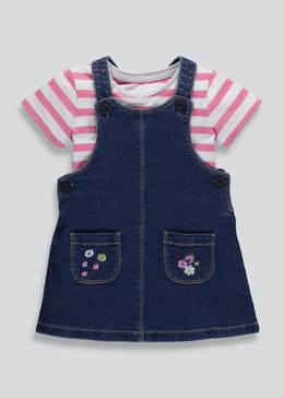 Girls Denim Pinafore & T-Shirt Set (6mths-6yrs)