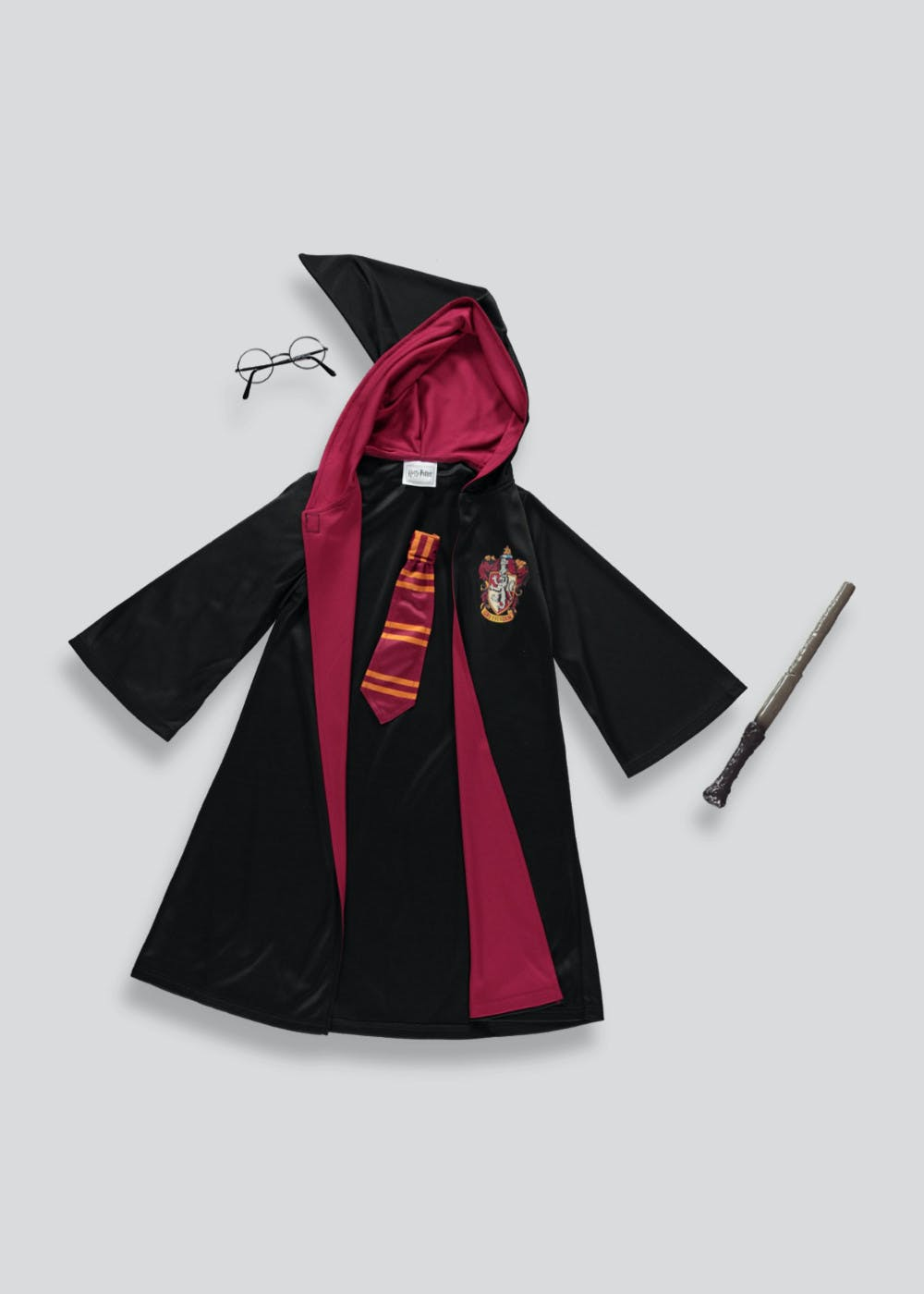 26083f386 Kids Harry Potter Fancy Dress Costume (5-12yrs) – Black – Matalan