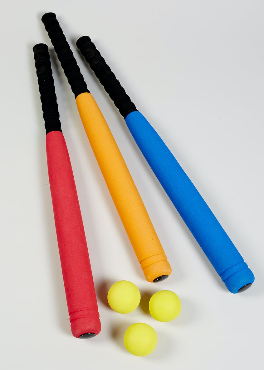 Foam Baseball Bat & Ball (60cm x 5cm)