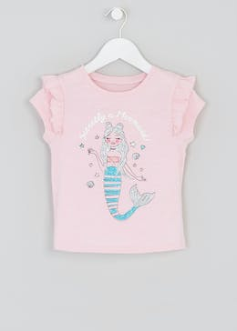Girls Mermaid T-Shirt (4-13yrs)