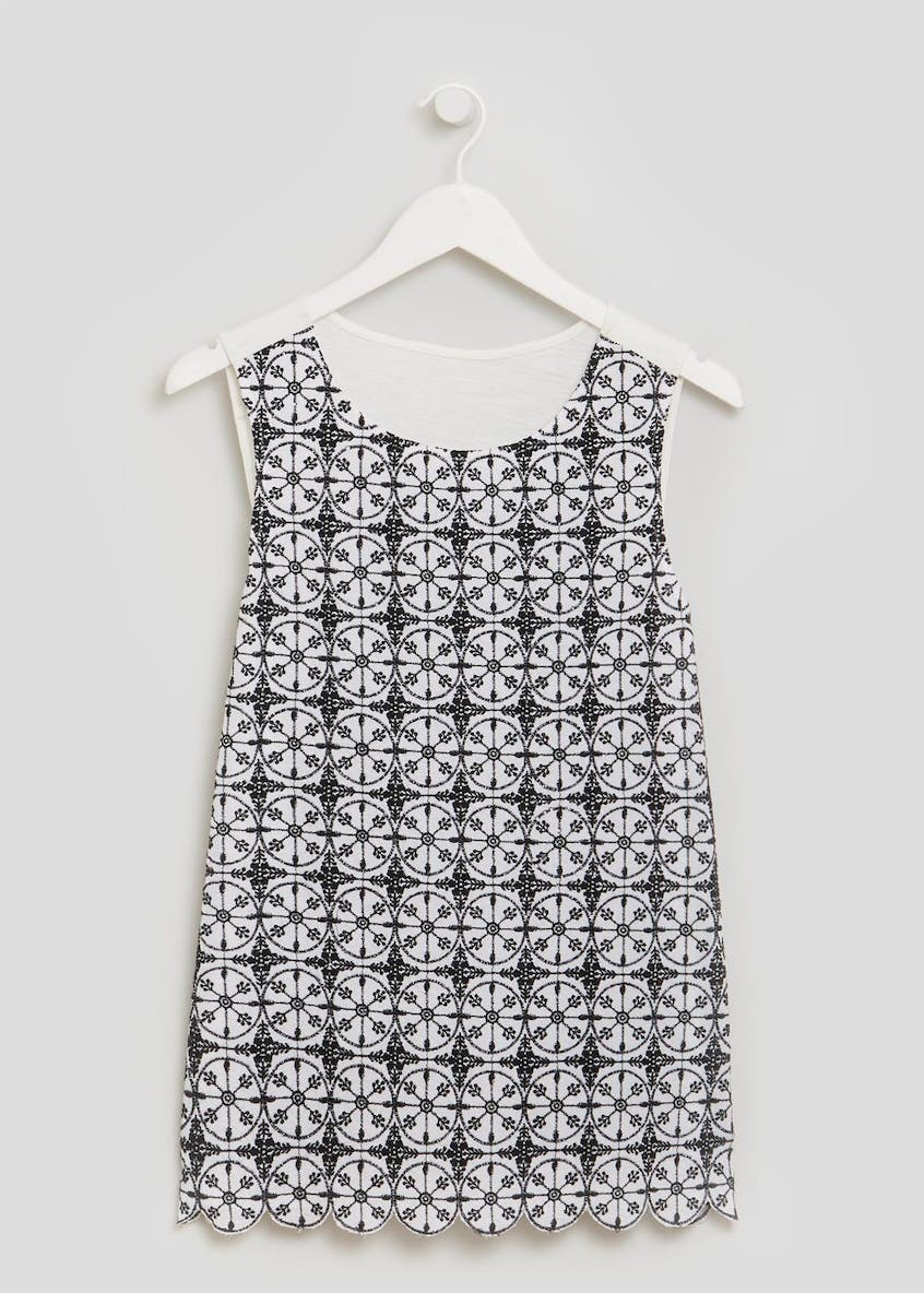 Falmer Schiffley Lace Vest Top