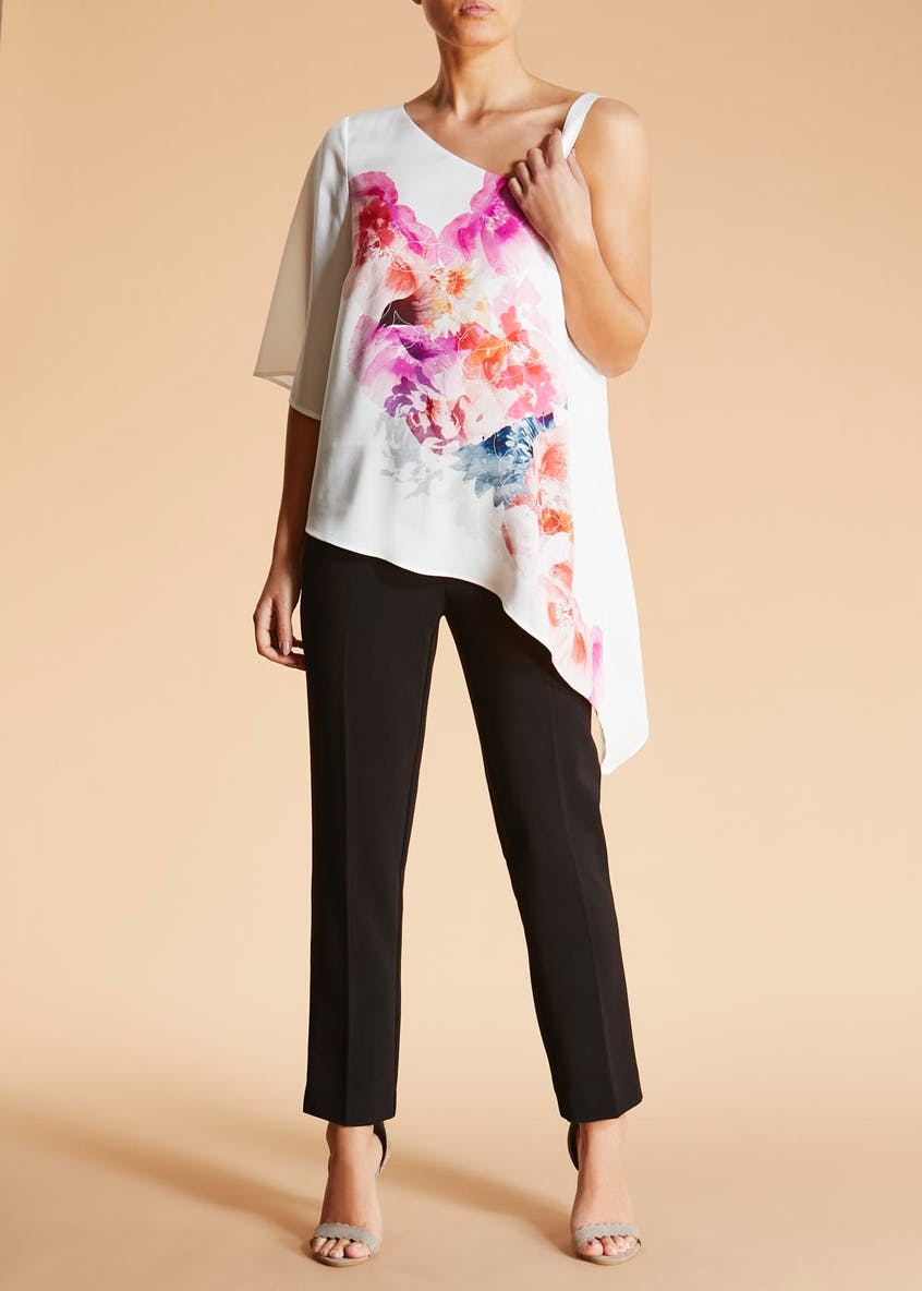 FWM Floral Asymmetric Top