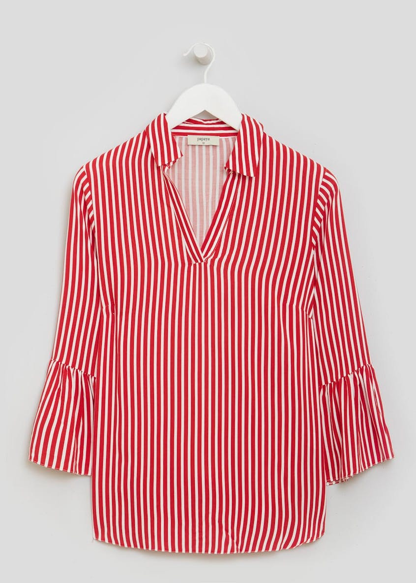 Stripe Bell Sleeve Shirt