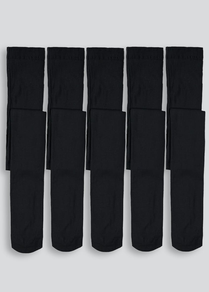 Girls 5 Pack Opaque Tights (6-13yrs)