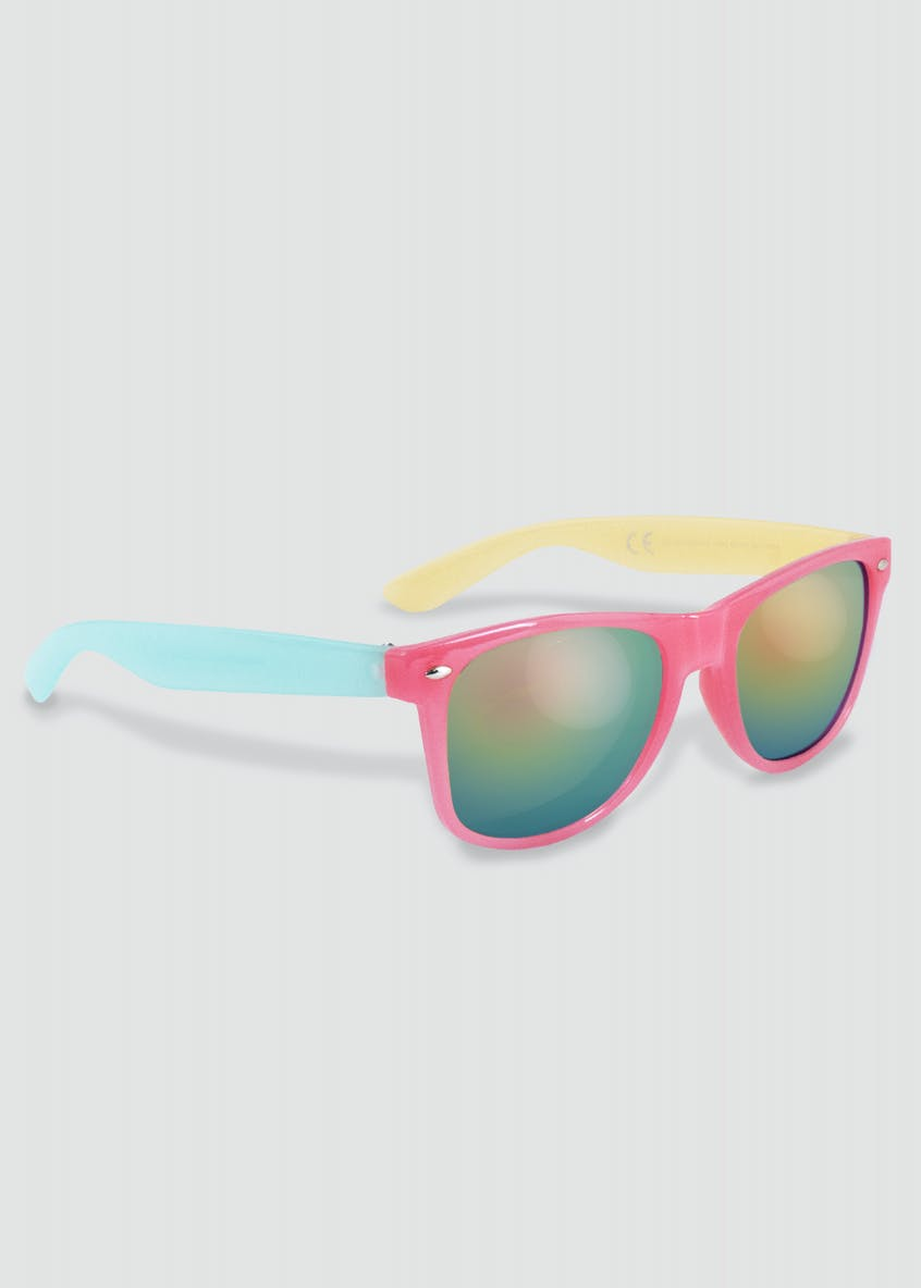 Girls Reflective Ombre Frame Sunglasses (One Size)