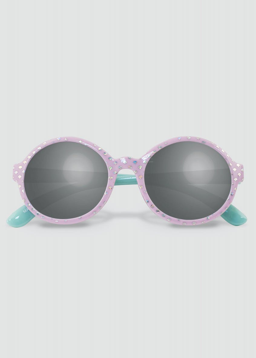 Girls Mermaid Foil Round Sunglasses (One Size)