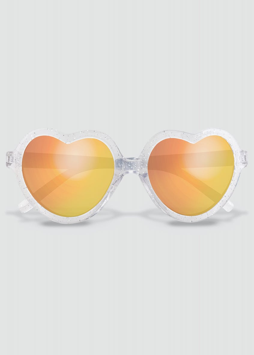 Girls Heart Frame Sunglasses