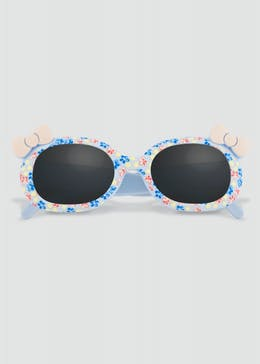 Girls Floral Bow Sunglasses (One Size)