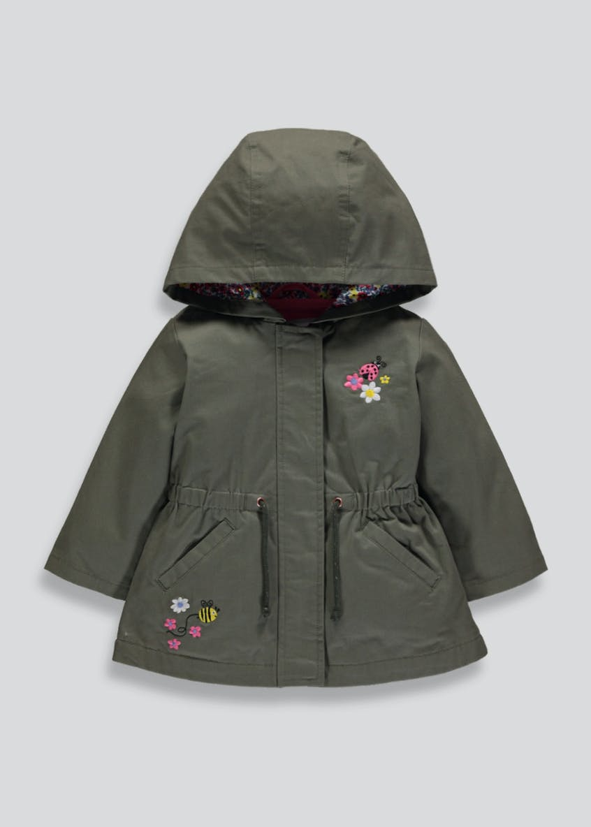 Girls Embroidered Parka (6mths-6yrs)