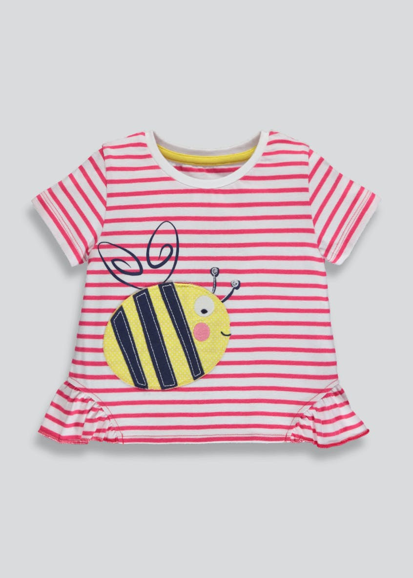 Girls Bee Stripe T-Shirt (3mths-6yrs)