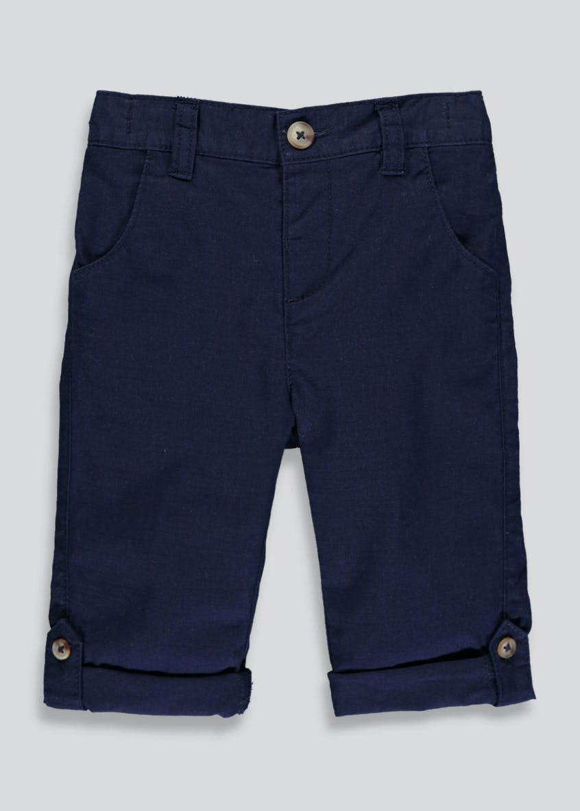 Boys Linen Roll up Trousers (3mths-6yrs)