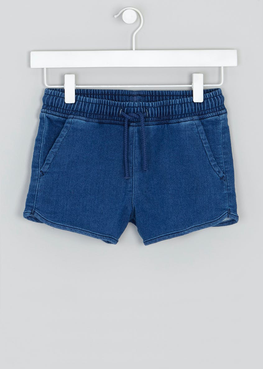 Girls Candy Couture Denim Runner Shorts (9-16yrs)