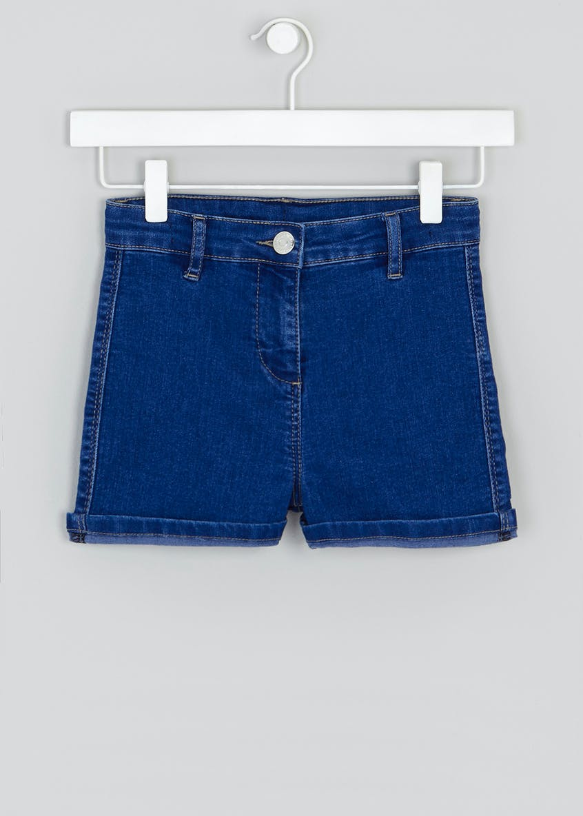 Girls Candy Couture High Waist Denim Shorts (9-16yrs)