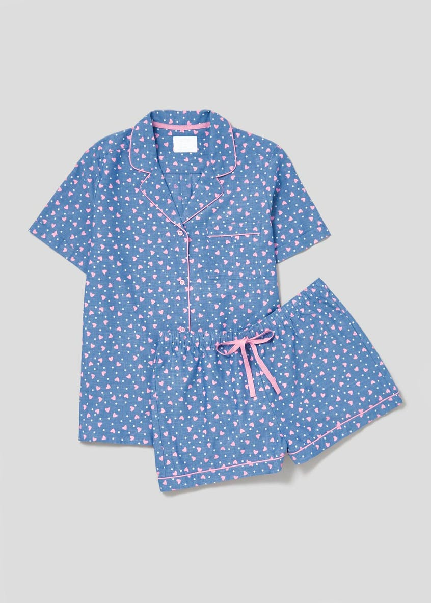 Heart Cotton Short Pyjama Set