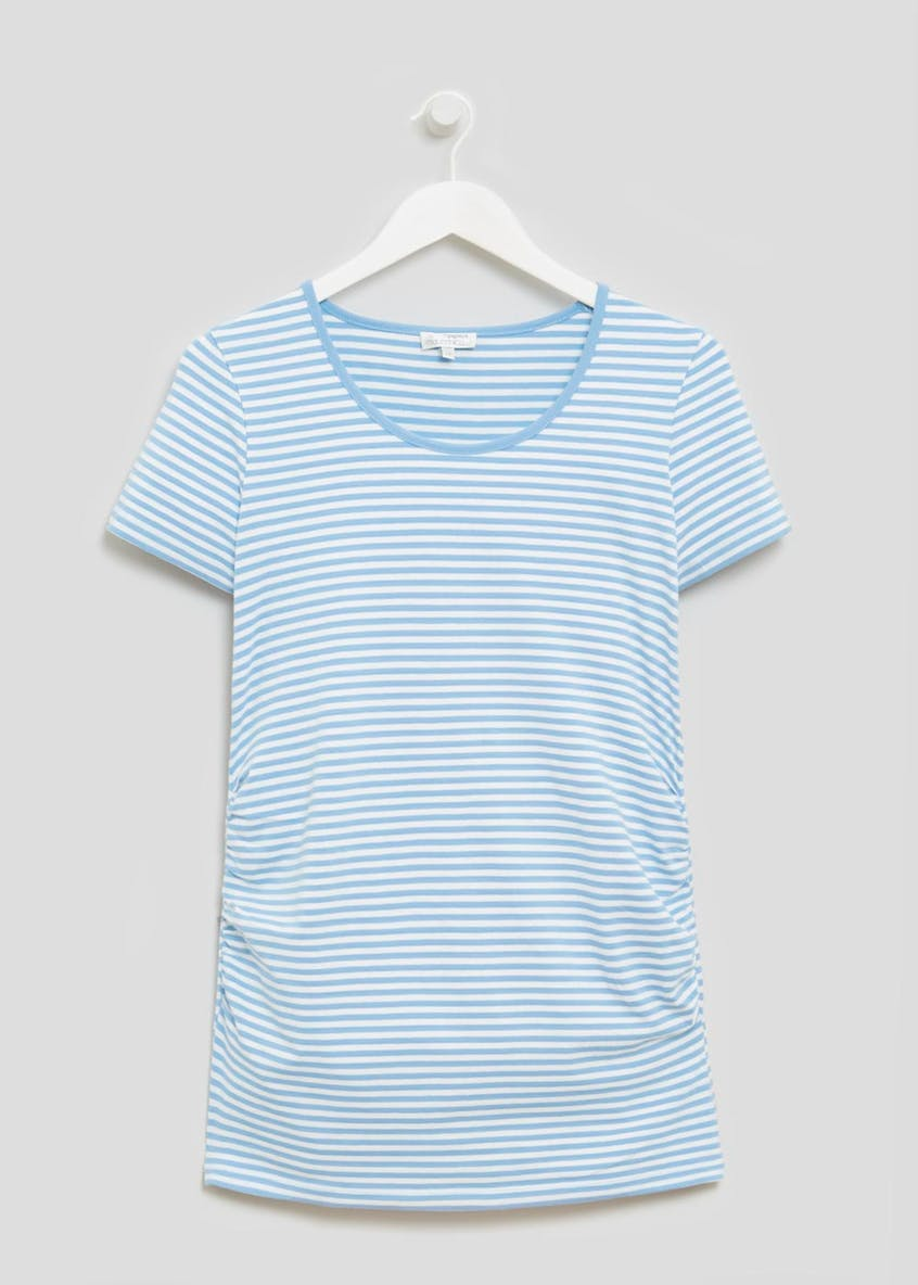 Maternity Stripe Longline T-Shirt