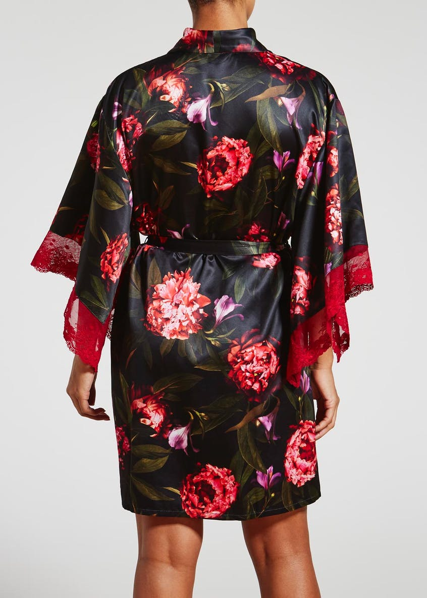 Julien Macdonald Floral Satin Dressing Gown