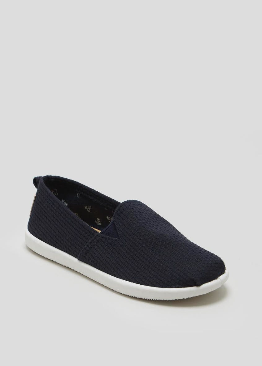 Boys Slip On Canvas Pumps (Younger 10-Older 6)