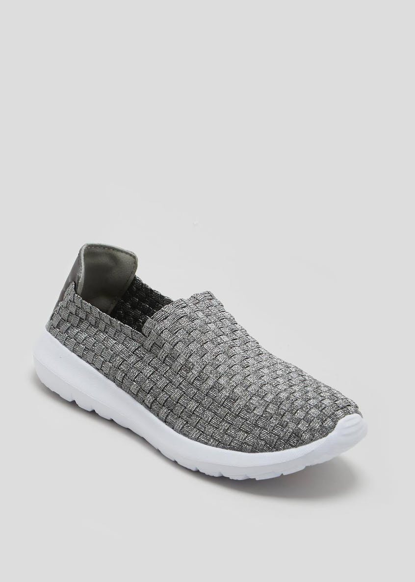 Woven Slip On Trainers