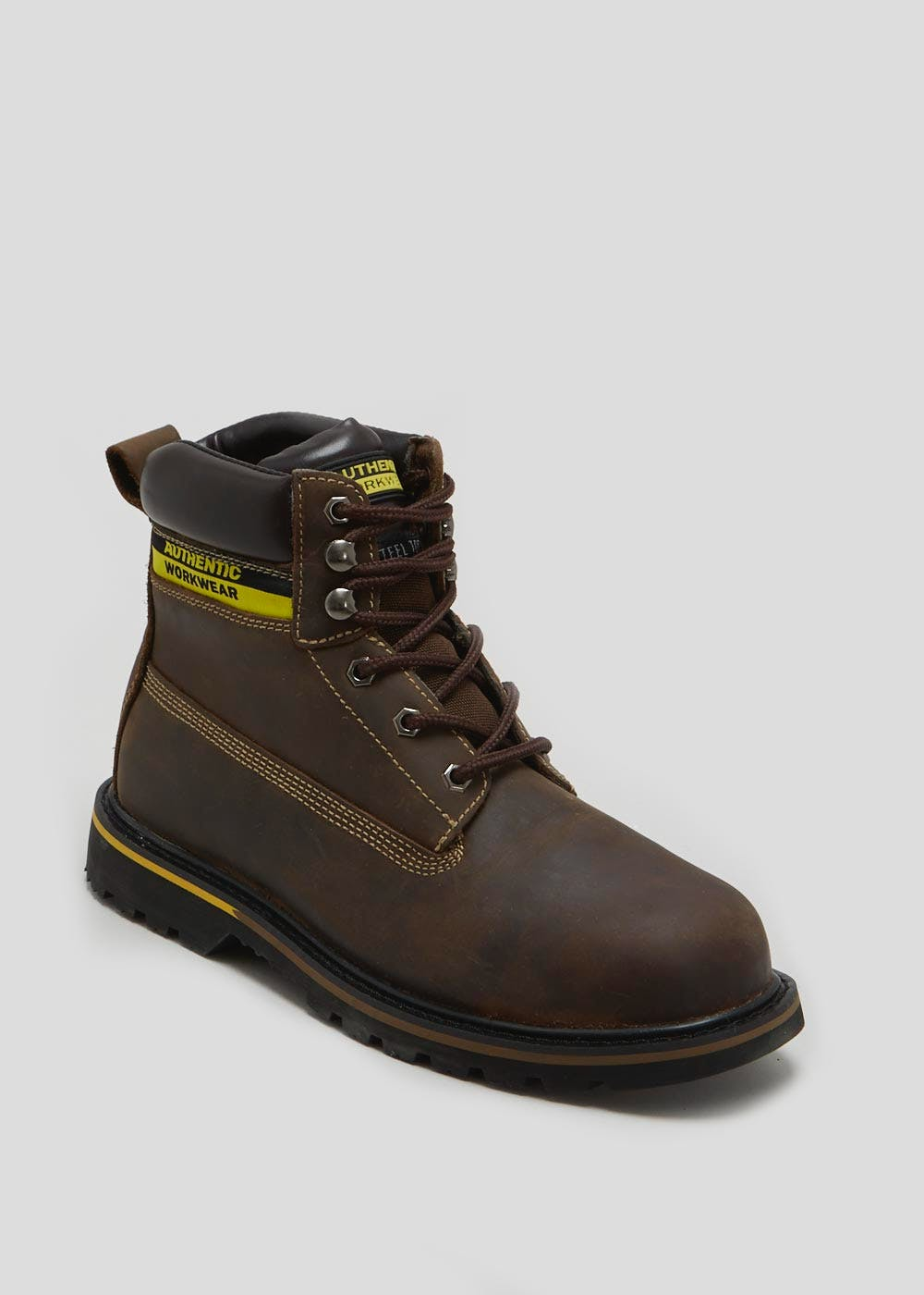 52b6b38dfbb Leather Steel Toe Cap Safety Boots