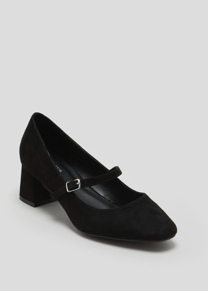 Wide Fit Mary Jane Block Heel Shoes