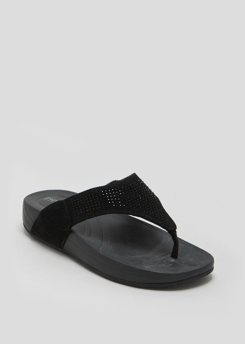 Diamante Comfort Toe Post Sandals