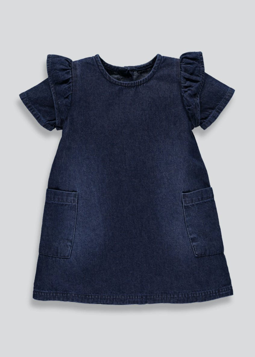 Girls Frill Denim Dress (6mths-6yrs)