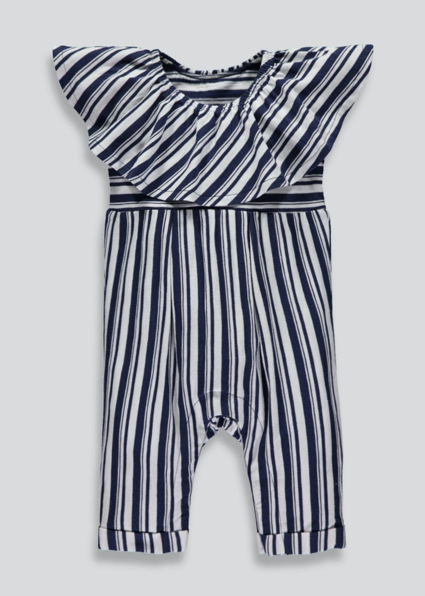 Girls Stripe Romper (Newborn-18mths)