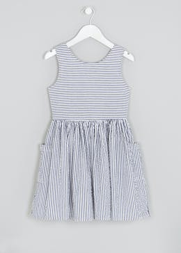 Girls Stripe Pocket Dress (4-13yrs)